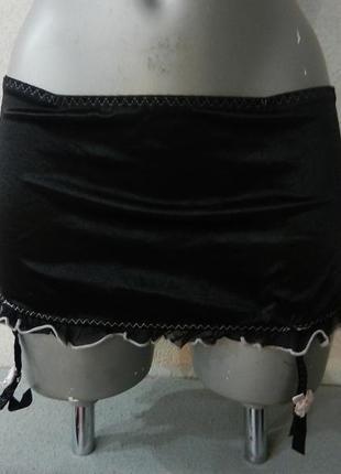 *secret possession*черный широкий атласный пояс стриги с подвя...