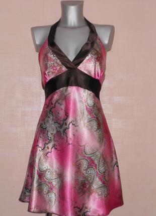 Франция! нарядное платье! коктейльный сарафан s/38