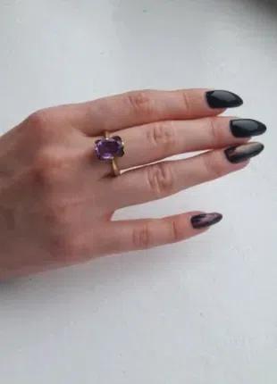 Золотое кольцо СССР 750 пробы с камнем Александрит