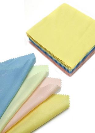100x Салфетка чистящая из микрофибры ткань для протирки оптики...