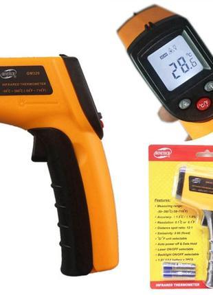 Лазерный ИК цифровой термометр, пирометр Smart Sensor AR360A+