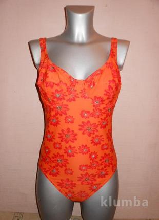 Германия! оранжевый купальник с чашками цветы новый