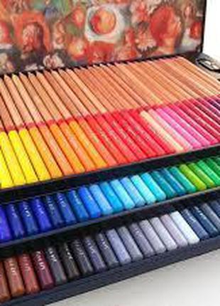 Набор разноцветных карандашей 100 шт, металлический кейс Marco...