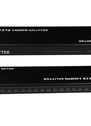 Коммутатор HDMI 1x16 портов, 4K, 3D, сплиттер, разветвитель
