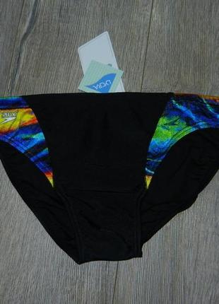 46-48/m-l speedo,оригинал! стильные черные яркие плавки новые