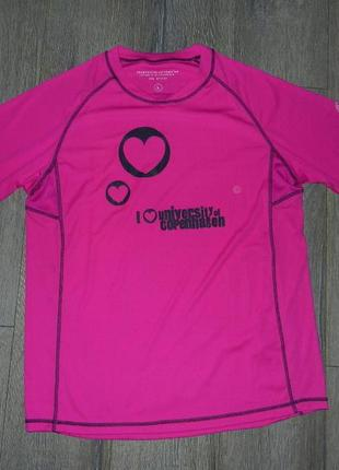 50/xl спортивная розовая фирменная футболка,футболка для фитне...