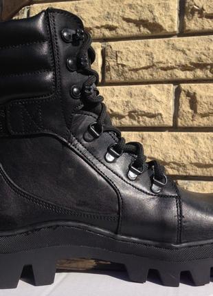 Берцы (ботинки) натуральная кожа