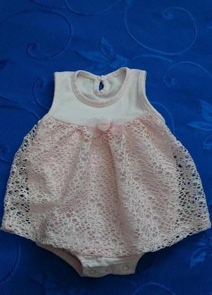 Нарядное платье боди для девочки veo baby , одяг для немовлят