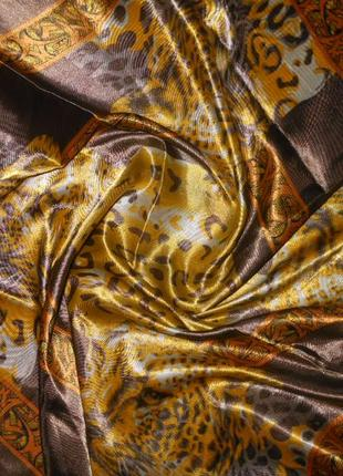 Шелк атлас италия! платок косынка тигры новый