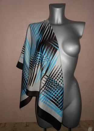 Платок шелк атлас италия!стильный новый большой платок, палант...