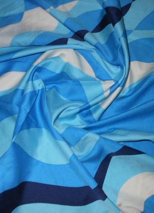 Платок косынка шелк атлас италия! большой голубой платок