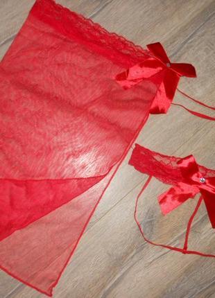 Красный эротический комплект новый