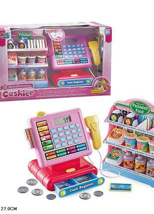 Кассовый аппарат детский (свет,звук,калькулятор,сканер)