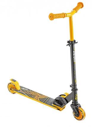 Двухколесный детский самокат, колеса с подсветкой, желтый, от ...
