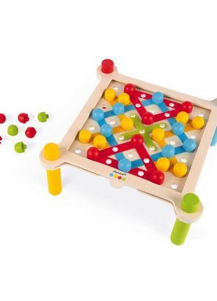 Развивающая игра 2 в 1 Мозаика и шнуровкадетская игрушка, Janod