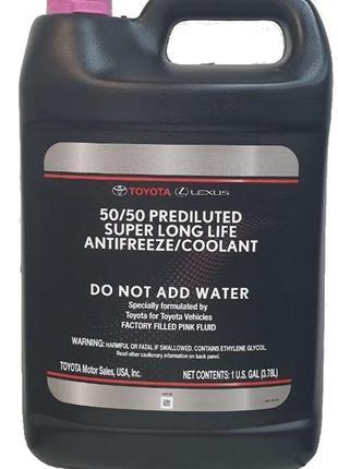 Антифриз Toyota Super Long Life Coolant,готовый розовый 3.785л...