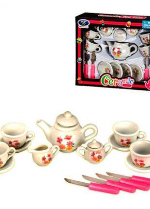 Игрушечный набор фарфоровой посудки, Чайный сервиз