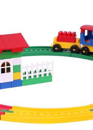 Конструктор для маленьких детей, железная дорога, Технок