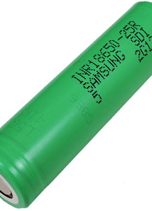 Аккумулятор литиевый Samsung INR 18650 25R (3.7V, 20A, 2500mAh)