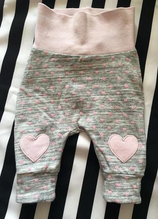 Натуральные штанишки в сердечки