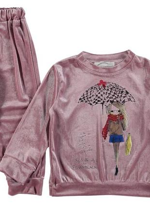 Детский велюровый костюм на девочку. турция