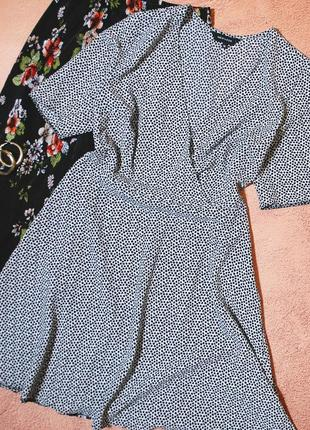 Тотальная распродажа! красивейшее платье на запах в горох