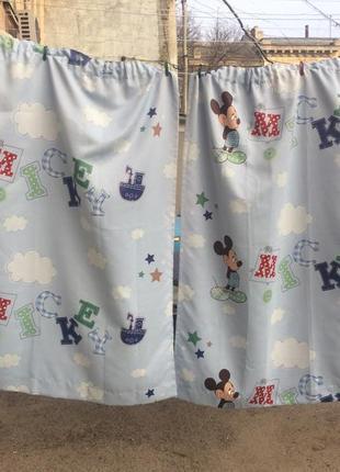 Disney mickey mouse шторы детские дисней микки маус занавески