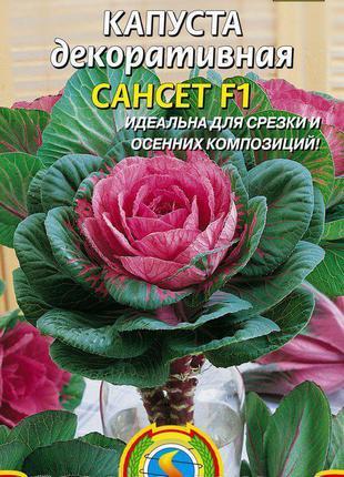 Капуста декоративная Сансет F1 10 шт (Плазменные семена)