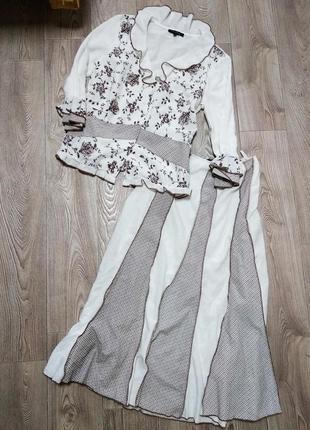 Костюм женский летний юбка с блузой