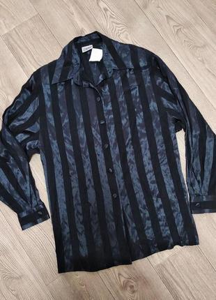 Полосатая длинная рубашка в полоску длинная блуза блузка