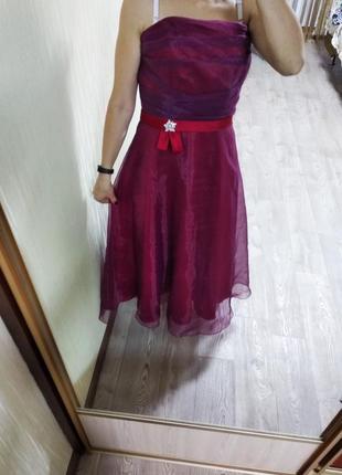Шикарное вечернее выпускное платье на выпускной торжество пышное