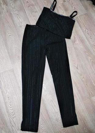 Костюм топ + брюки майка и штаны
