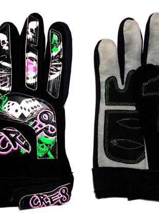 Спортивные перчатки р.м  кожа натур.
