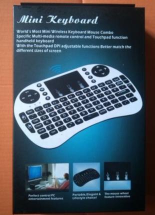 Беспроводная мини клавиатура MWK08/i8 с тачскрином и подсветко...