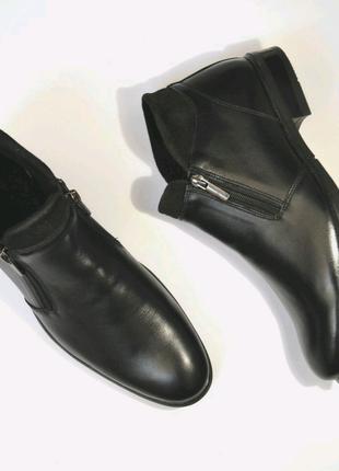 Мужские ботинки из натуральной кожи,  демисезонные