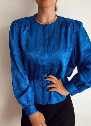 Блуза в винтажном стиле сатиновая блуза moves размер s