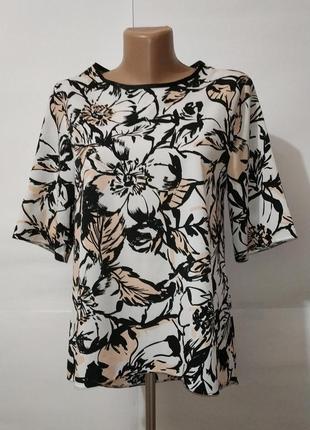 Блуза красивая цветочная c кокеткой на спинке miss selfridge u...