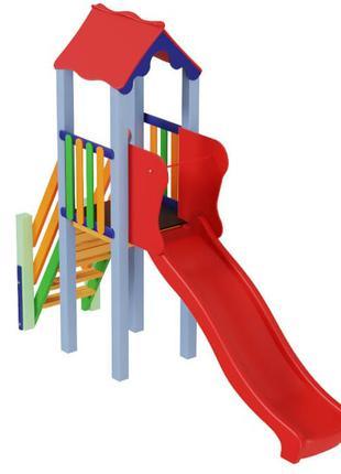 Детский игровой развивающий комплекс Мини с пластиковой горкой...