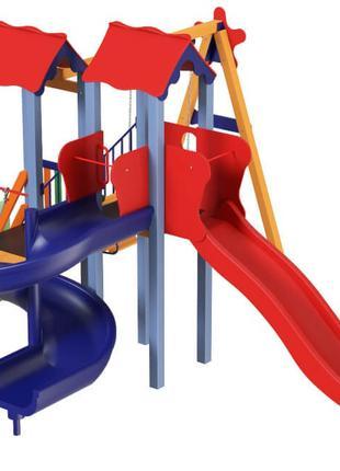 Детский игровой развивающий комплекс Авалон с пластиковой горк...