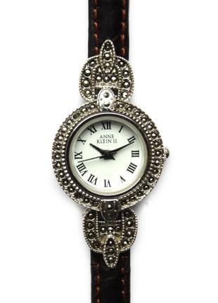 Anne klein часы из сша кожаный ремешок механизм ronda swiss parts