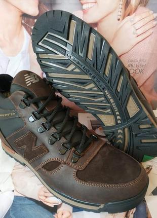 Мужские зимние кожаные спортивные ботинки new balance winter к...