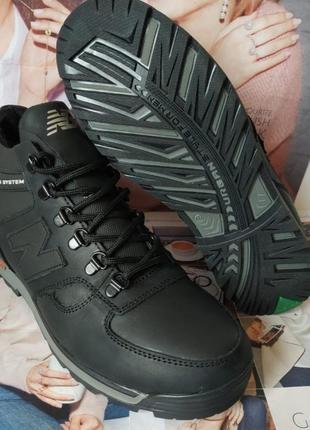 Мужские зимние кожаные спортивные ботинки new balance winter ч...