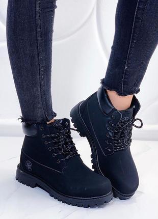 Зимние ботинки тимберленды, зимние ботинки на низком каблуке