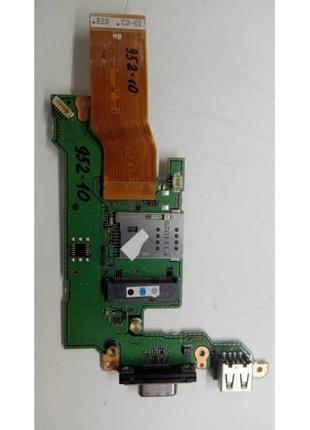 952-10 Плата модуль батарейки BIOS, USB, WLAN, WWAN, VGA,Cardr...