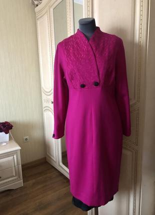 Красивое шерстяное силуэтное платье, платье натуральная шерсть...