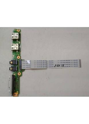 S37-9 Плата модуль 2 USB, AUDIO, VGA Fujitsu LifeBook P702 P/N...