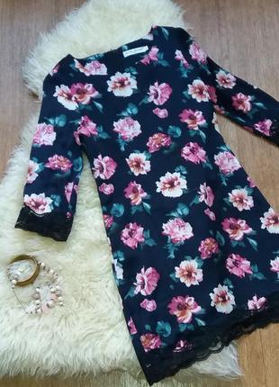 Платье в цветочный принт нарядное