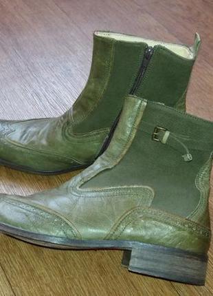 Ботинки кожаные демисезонные итальянские