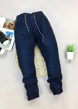 Теплі джинси з косими карманами, на флісі