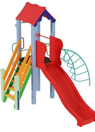 Детский игровой развивающий комплекс Петушок с пластиковой гор...